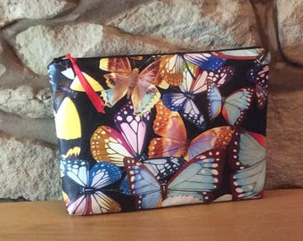 Tropical Butterfly Luxury Glamorous Wash Bag