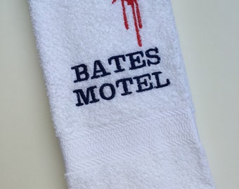 Psycho Bates Motel Embroidered Hand Towel