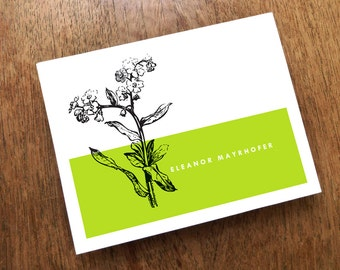 Note Card Template - Grass - Color Block