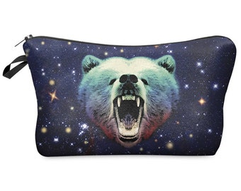 MAKEUP COSMETIC Bag - Cosmic Space Bear