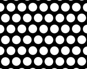 1 yard of Mystique Black and White Dots by Riley Blake
