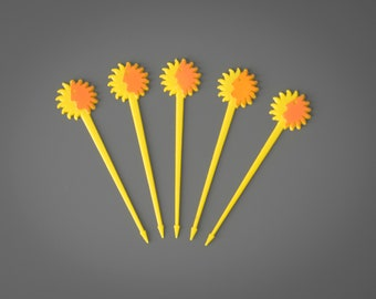 Set of 5 National Airline Swizzle Sticks
