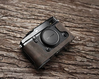 MS Edition  Fujifilm fuji X pro 2 Xpro2 Handmade Half Case Cowhide leather insert Camera bag Protector Holster sleeve