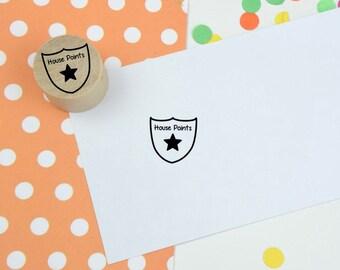 House Points Mini Stamp - Reward Rubber Stamp - Teacher Stamp - Grading Stamp