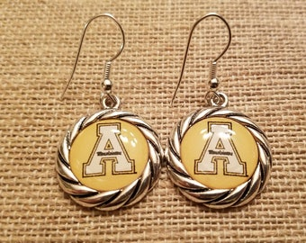 Appalachian State University (ASU) Mountaineers Rope Round Earrings