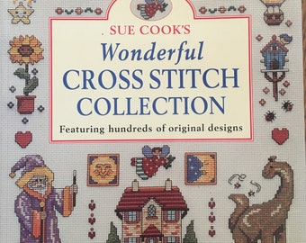 Wonderful Cross Stitch Collection Sue Cook 2003 Hundreds Vintage Counted Cross Stitch Chart Pattern Book Softcover