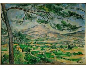 Cezanne Mont Sainte-victoire Courtauld Fine Art Poster Impressionist 24x36