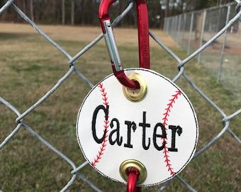 Embroidered Baseball or Softball Dugout Bag Holders
