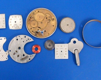 Lot OF Watch Parts For Steam Punk Projects (P)