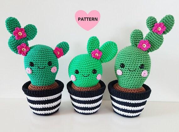 Amigurumi Cactus : Cactus friends pdf pattern amigurumi crochet