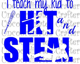 I teach my kid to hit and steal svg//  hit and steal svg// coach svg// baseball svg// softball svg