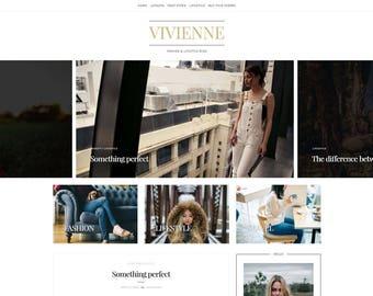 "Responsive Wordpress Theme - ""Vivienne"" | Wordpress Template - WordPress Website - Fashion Blog Design - Custom Theme Options - Classic Blog"