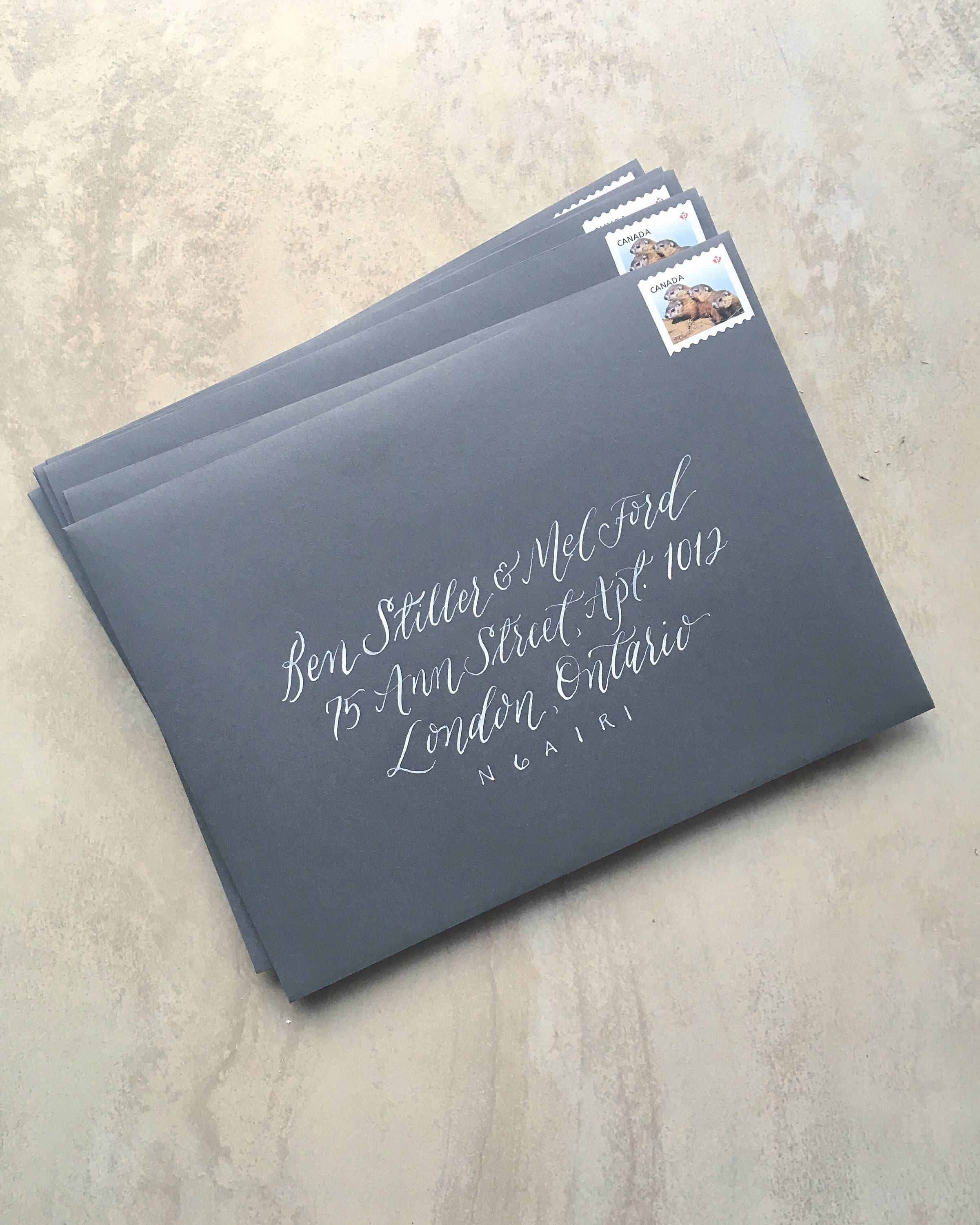 Handwritten Wedding Invitations Envelopes: Handwritten Calligraphy Wedding Invitations Envelope