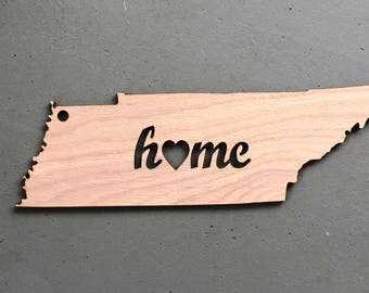 Wooden Tennessee Home Sign