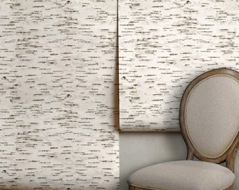 Birch Bark Easy to Apply Removable Peel 'n Stick Wallpaper