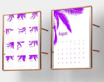 Violet Calendar, 2018 Wall Calendar, Purple Calendar, Calendar 2018 Wall, Calendar 2018 Printable, Calendar Purple Calendar Violet Printable
