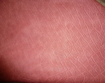 "Leather 8""x10"" ELEPHANT Distressed LIGHT PINK Embossed Cowhide  2-2.5oz/.8-1 mm PeggySueAlso™ E2899-11"