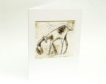 Goat, Greeting Card, Art Card, Bridget Farmer, Animal Art, Animal Card