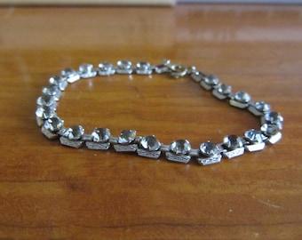 1930s rhinestone link bracelet
