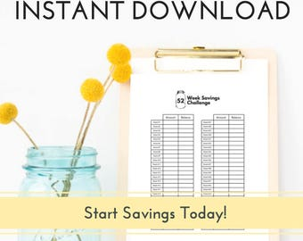 Dave Ramsey PRINTABLE, Budget Planner, Debt Snowball, Budget Planner Printable, Savings Tracker, 52 Week Savings Challenge, Savings Tracker