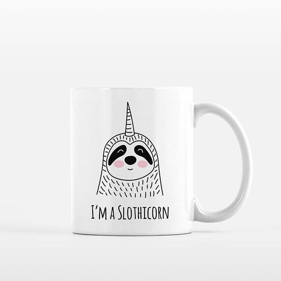 Slothicorn Coffee Mug, Sloth Unicorn, Ceramic Mug, Funny Mug, Cute Mug, Unique Coffee Gift, Coffee Lovers Gift, Office Mug, Coffee Cup