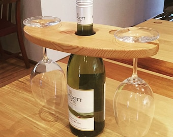 Wine glass board - handmade from recycled floorboards