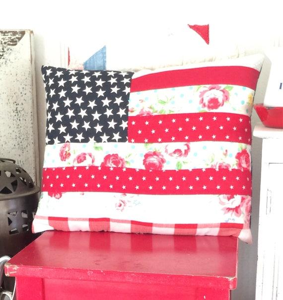 """Farmhouse Style Fkag Pillow - Reak Size 9"""" x 11"""""""