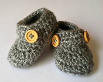 Crochet Baby Booties, Baby Booties Low Cut, Baby Shoes, Baby Loafers, Baby Slipper, Baby Shoes Boy, Baby Gift, Baby Shower Gift