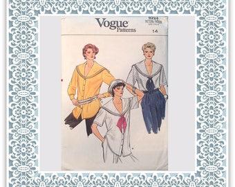 Vogue 9224 (1985) Misses' blouse (with petite option) - Vintage Uncut Sewing Pattern