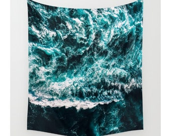 Wall Tapestry, Ocean Tapestry, Wall Hanging, Ocean Waves Beach, Ocean Decor, Photo Wall Art, Bohemian Decor, Modern Tapestry, Home Decor