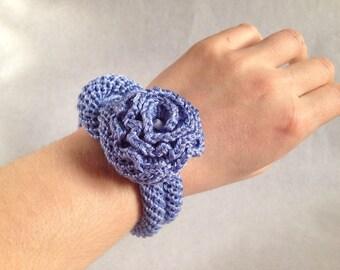 Crochet bracelet, Sailors knot bracelet, Crochet jewelry, Crochet button bracelet, Bohemian bracelet, Boho crochet bracelet
