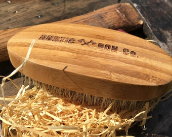 Boar Bristle Beard Brush | Gift for Him | Best Beard Brush | Boar Hair Beard Brush | Mustache Brush | Bamboo Brush | Handmade Wood Brush