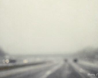 travel, blur, bokeh, winter, gray, fine art photography