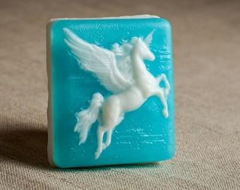 Pegasus mold, plastic mold, unicorn mold, horse mold, horse mould, pegasus soap, fantastic mold, fantasy mold, soap mold, plaster mold