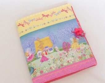 Day Planner Journal Cover Fairy Fabric Cover for Notepads Pencils and Small Drawing Pad Gift for Girls