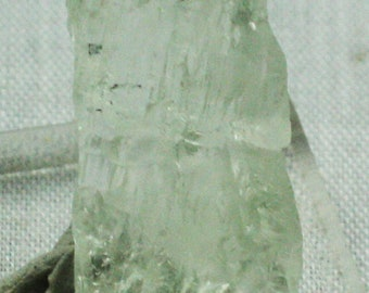 Etched green Hiddenite crystal, Brazil- Mineral Specimen for Sale