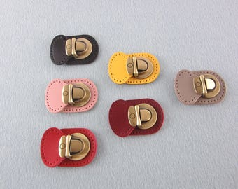 Thumb Catch Purse Lock, Brushed Brass Bag Lock
