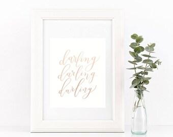 Darling digital print