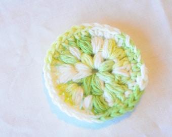 Handmade 100% Cotton Face Scrubbie - set of 3