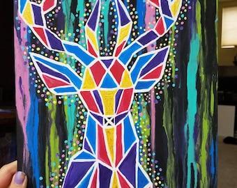The Deer -Spirit Animal Series #1 - Original Acrylic Painting by Lindsey Grace Williams