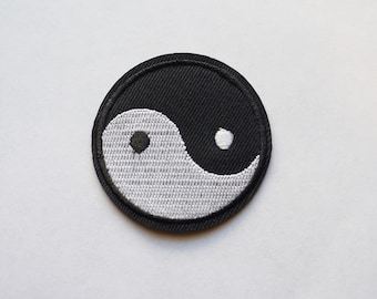 2 inches Tai Ji Yin Yang Embroidered Iron on Patch Chinese Symbol ZEN DIY