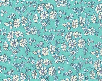 Liberty fabric Tana Lawn Capel - 5''x10'' piece - turquoise