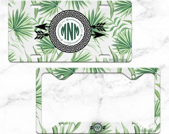 GREEN PALMS - Tropical License Plate Design
