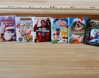 MV-1      Miniature Christmas Movies   great for Barbie, dollhouses and collectors