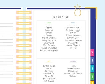Grocery List Printable, Grocery List Notepad, Grocery Shopping List