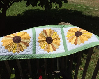 Summertime Sunflowers Hand-Quilted Table Runner