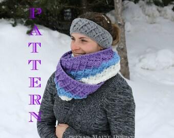 Seashell Crochet Infinity Scarf Pattern, Crochet Scarf Pattern, PDF, Permission To Sell