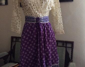 Vintage Gunne Sax cotton calico skirt.