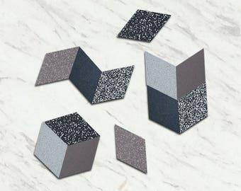 Rhombus Table Trivets - Stone