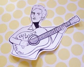 Woody Guthrie Sticker